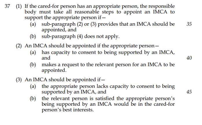 Law Com IMCA proposals 2